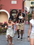 Former NBA superstar Kobe Bryant and wife Vanessa enjoying a vacation with their kids Natalia, Gianna, Bianka in Portofino, Italy