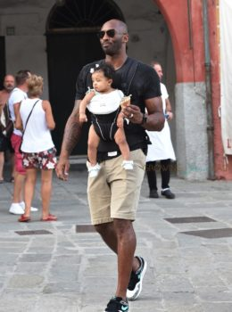 Former NBA superstar Kobe Bryant on vacation with daughter Bianka in Portofino, Italy