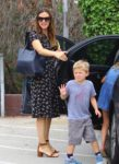 Jennifer Garner attends sunday service with her kids Sam, Seraphina & Violet Affleck