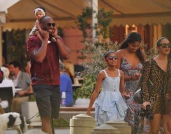 Kobe Bryant, Vanessa Bryant, Natalia Bryant, Gianna Bryant, Bianka Bryant on vacation