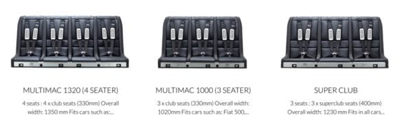 Multimac 3 and 4 seat configurations