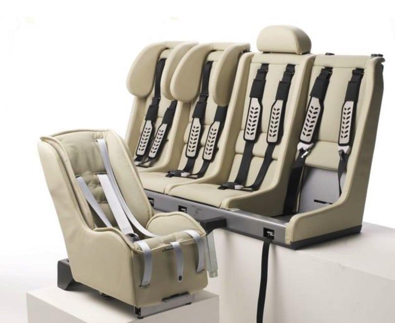 Multimac 4 across car seat unit with minimac baby car seat