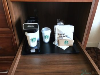 Sheraton Downtown Montreal - coffee machine