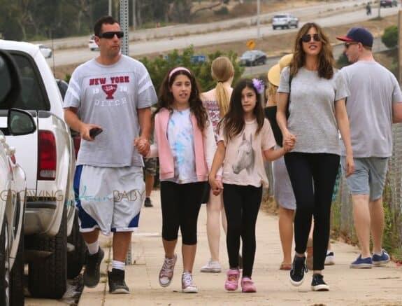 Adam Sandler, Sadie Madison Sandler, Sunny Madeline Sandler, Jackie Sandler at Malibu chili cook-off