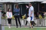 Adam Sandler, Sadie Madison Sandler, Sunny Madeline Sandler, Jackie Sandler out with his family in Malibu