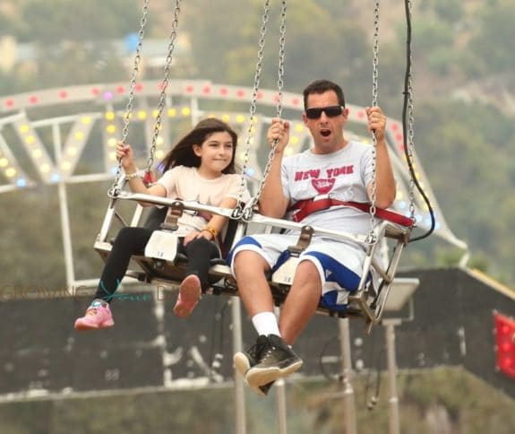 Adam Sandler Visits the Fair With His Family