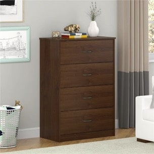 Ameriwood Mainstays chest of drawers in alder - 5412301WY, 5412301WP, 5412328WP, 5412301PCOM, 5412328PCOM