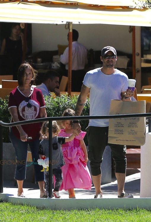 Brian Austin Green and sons go shopping at Malibu Country Market