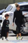 Khloe Kardashian with nephew Mason at Glowzone in LA