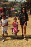 Kourtney Kardashian at Malibu Chili Cookout with kids Mason & Penelope Disick