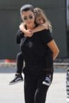 Kourtney Kardashian with daughter Penelope disick at Glowzone in LA