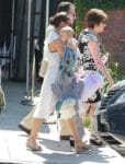 Natalie Portman leaves church w: daughter Amalia Milipied