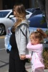 Pregnant Jessica Alba out in West Hollywood with her daughters Haven & Honor Warren
