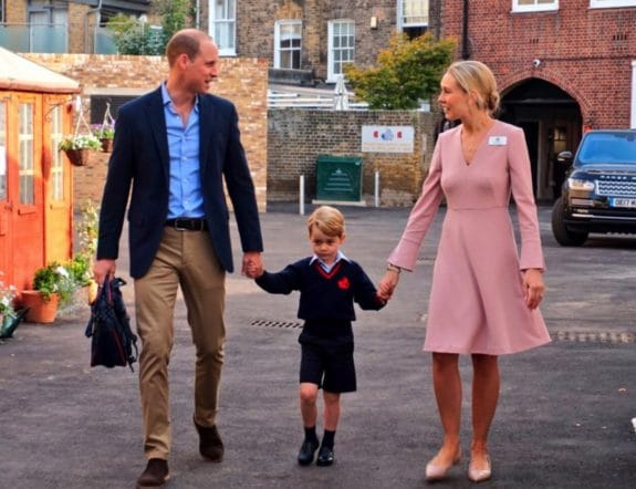 Prince George attends Thomas's Battersea on his first day of school