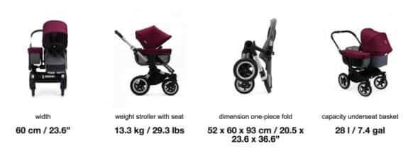 2018 bugaboo Donkey² Double Stroller specs