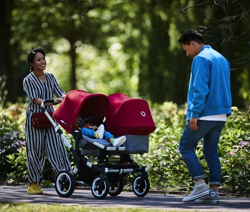 2018 bugaboo Donkey² double Stroller out for a walk