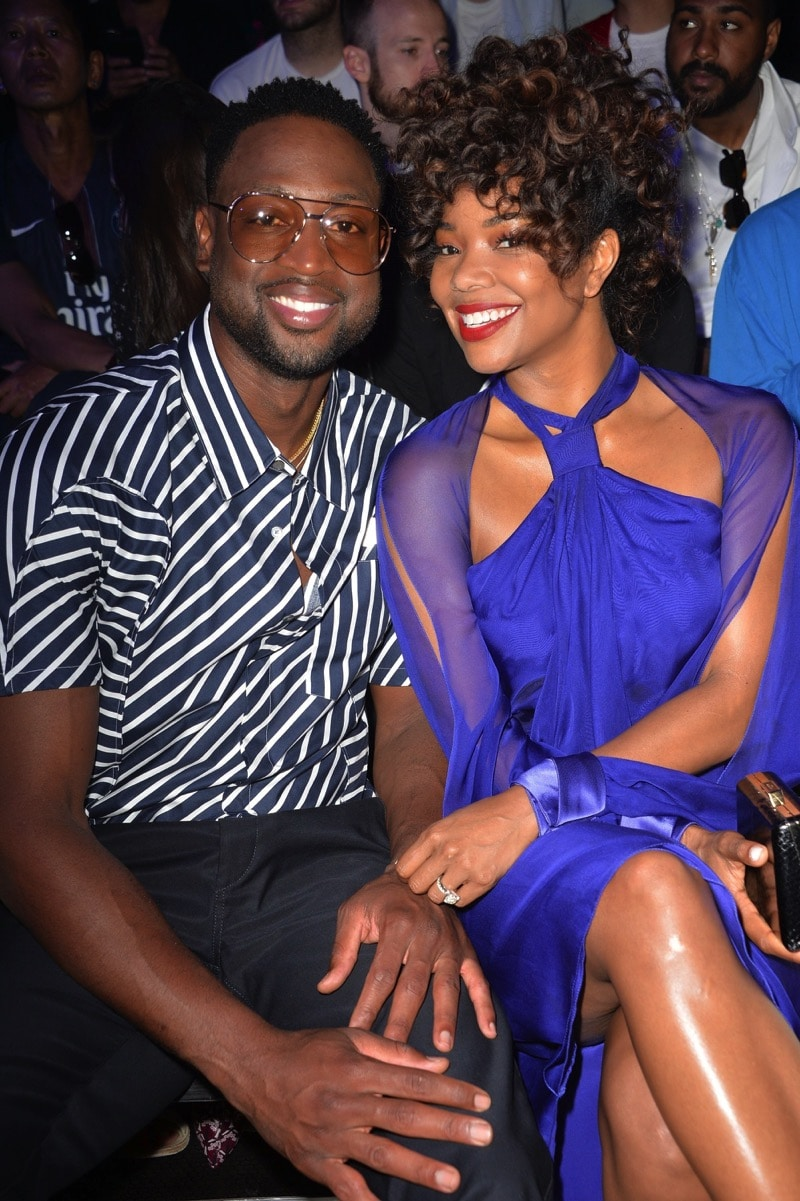 Dwyane Wade and Gabrielle Union attend the Lanvin Menswear Spring:Summer 2018 show as part of Paris Fashion Week.