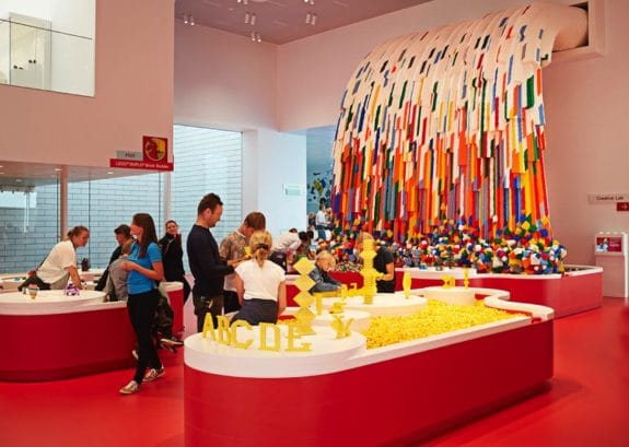 LEGO House Denmark Red Zone - Brick Builder Waterfall