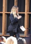 "Pregnant Khloe Kardashian arrives at Nordstrom for a ""Good American"" event"