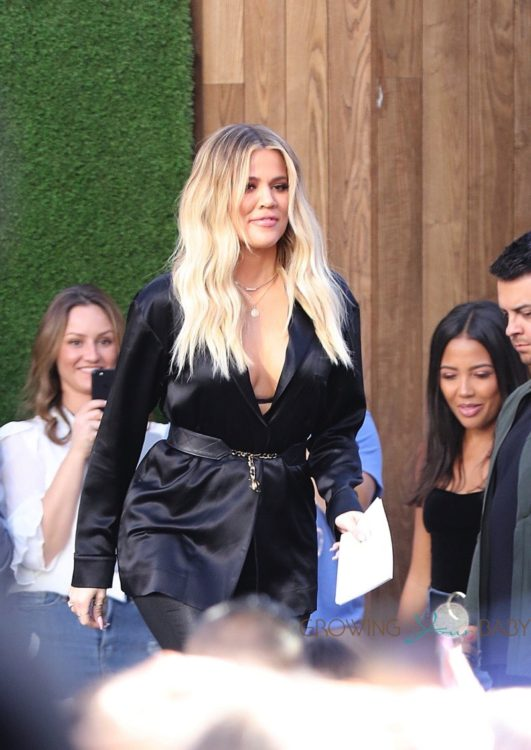 "Pregnant Khloe Kardashian seen arriving at Nordstrom for a ""Good American"" event"