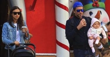Bradley Cooper and Irina Shayk take their daughter Lea to see Santa Claus f