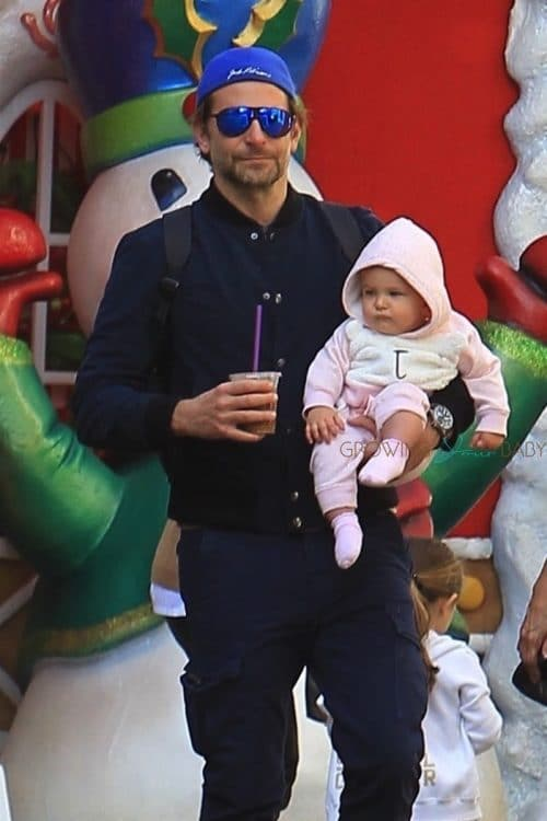 Bradley Cooper and Irina Shayk take their daughter Lea to see Santa Claus in LA