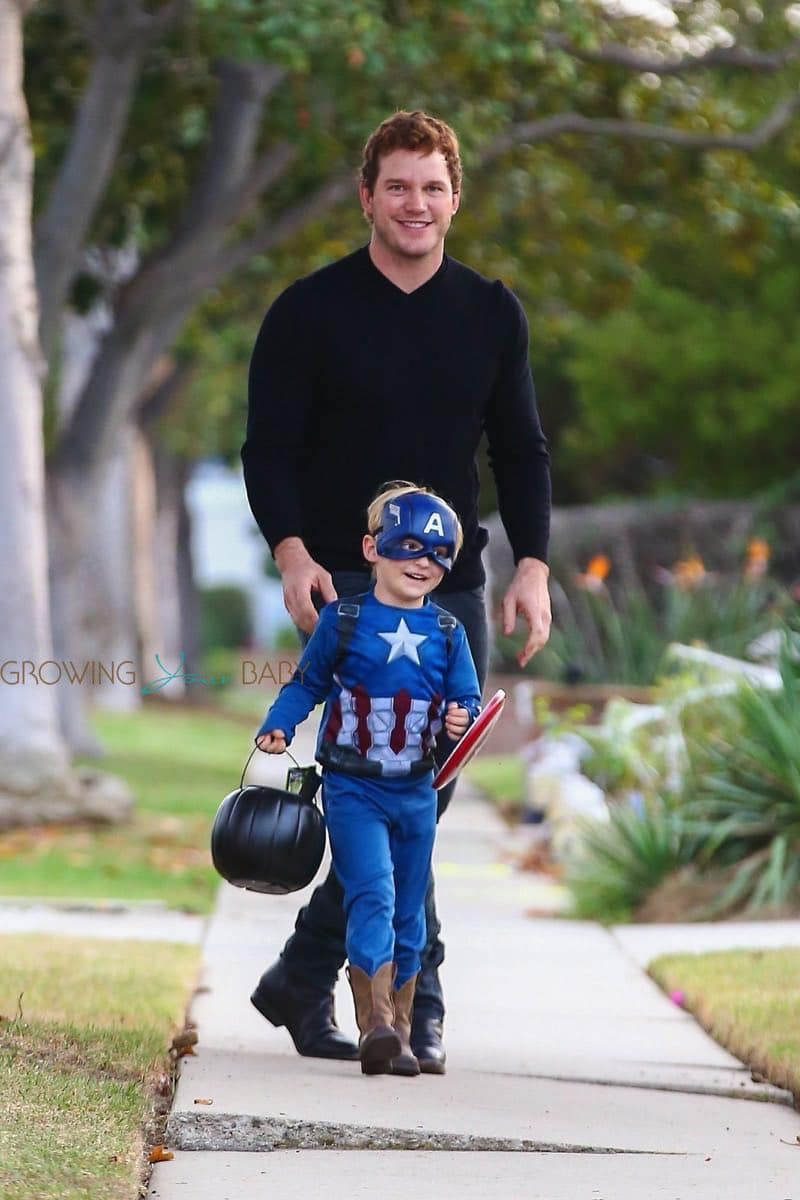 Chris Pratt Takes His Son Jack Trick Or Treating Growing