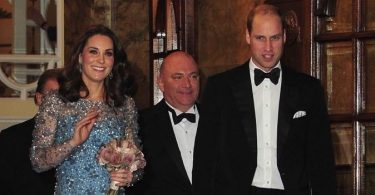 Duke and Duchess of Cambridge leaving Royal Variety Performance f