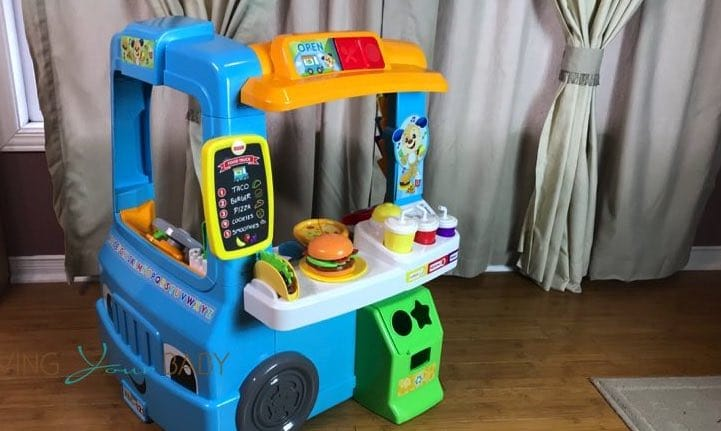 hot for the holidays fisher price laugh learn servin 39 up fun food truck. Black Bedroom Furniture Sets. Home Design Ideas