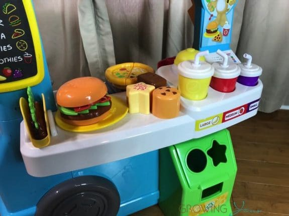 Fisher-Price Laugh & Learn Servin' Up Fun Food Truck - food