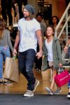 Gabriel Aubry enjoys an afternoon of shopping with daughter Nahla