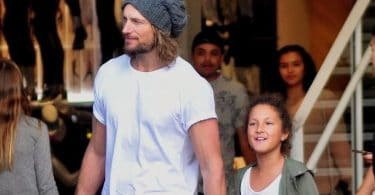 Gabriel Aubry enjoys an afternoon of shopping with daughter Nahla f
