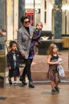 Kris Jenner takes her grandkids to the movies in Calabasas