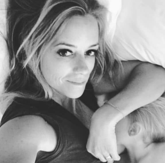 Nicole Curtis with her son