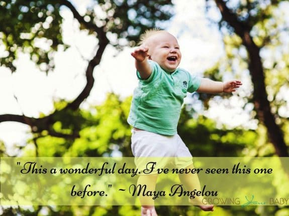 "Thankful Quote ""This a wonderful day. I've never seen this one before._ Maya Angelou"