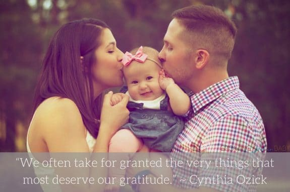 "Thankful quote ""We often take for granted the very things that most deserve our gratitude."" ~ Cynthia Ozick"