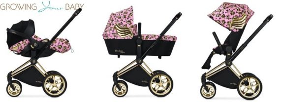 cybex by jeremy scott cherub collection - priam pink