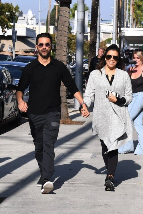 Eva Longoria and Jose Baston are spotted out for lunch at E. Baldi in Beverly Hills
