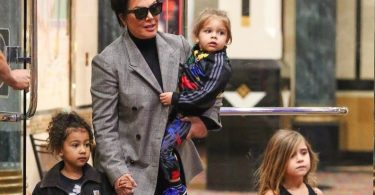 Kris Jenner takes her grandkids to the movies in Calabasas f