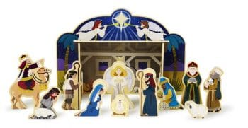 Melissa & Doug Classic Wooden Nativity Set - Kid Friendly