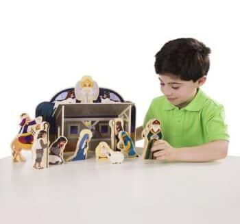 Melissa & Doug Classic Wooden Nativity Set- kid friendly
