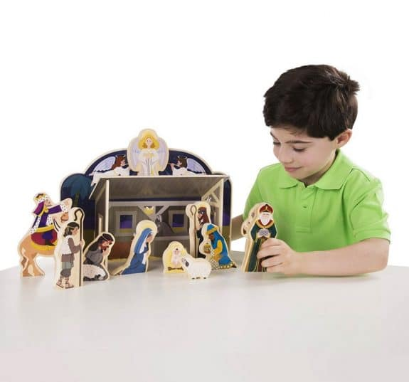Melissa & Doug Classic Wooden Nativity Set- kid friendly