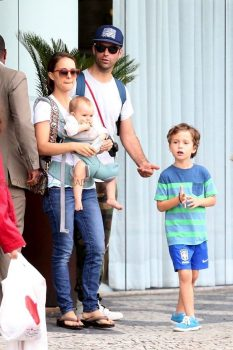 Natalie Portman and Benjamin Millepied take the kids out in Rio