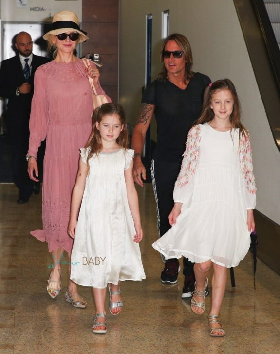 Nicole Kidman, Faith Margaret Kidman, Sunday Rose, Keith Urban arrive in Australia for the holidays 2017