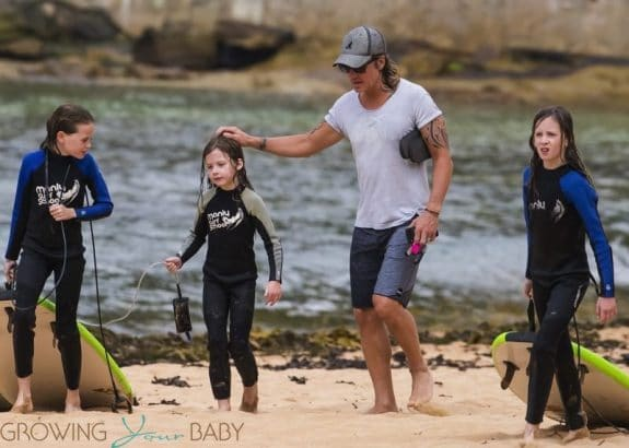 Nicole Kidman and Keith Urban's daughters enjoy a day of surfing lessons