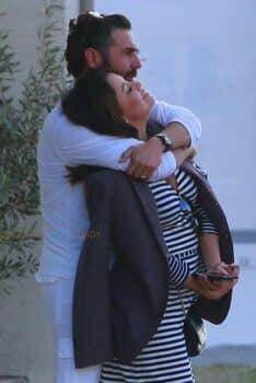 Pregnant Eva Longoria and Jose Baston