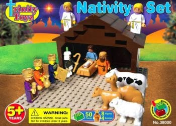 Trinity Toys Nativity Building Block Set - kid friendly