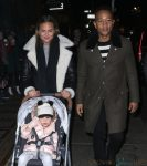 Chrissy Teigen and John Legend take Luna out for Lure Fishbar