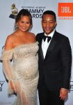 John Legend and a very pregnant Chrissy Teigen attend Clive Davis and Recording Academy Pre-Grammy Gala