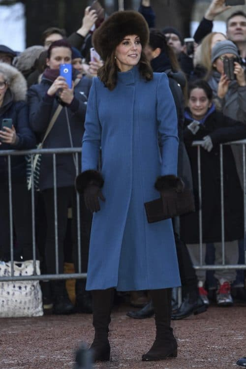 Kate Middleton shows off her growing baby bump while visiting Norway with Prince William